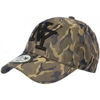Accessoires textile Casquettes Hip Hop Honour Casquette NY militaire Verte et Noire Baseball Fashion Kaptain Vert