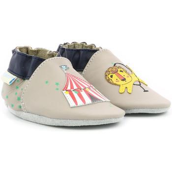Chaussures Garçon Chaussons bébés Robeez Lion Circus GRIS