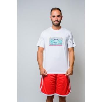 Vêtements Homme T-shirts manches courtes Champion T-shirt à col ras du cou  (214665-ww001) Blanc
