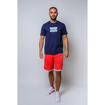 Vêtements Homme T-shirts manches courtes Champion T-shirt à col ras du cou  (214666-bs503) Bleu