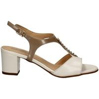 Chaussures Femme Sandales et Nu-pieds Melluso K95337 BLANC ET BEIGE