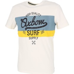 Vêtements Homme T-shirts manches courtes Oxbow Triam tee sel Ecru