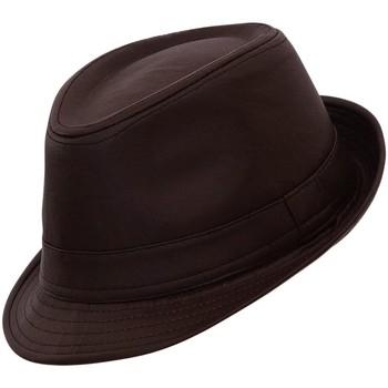 Accessoires textile Homme Chapeaux Chapeau-Tendance Chapeau trilby façon cuir MAX T55 Marron