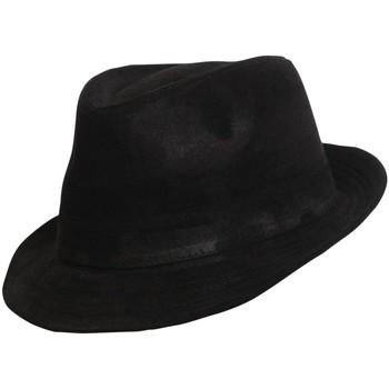Accessoires textile Homme Chapeaux Chapeau-Tendance Chapeau trilby aspect daim T56 Noir