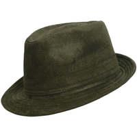 Accessoires textile Homme Chapeaux Chapeau-Tendance Chapeau trilby aspect daim T57 Kaki