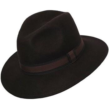 Accessoires textile Chapeaux Chapeau-Tendance Chapeau fédora 100% laine IDRO T55 Marron