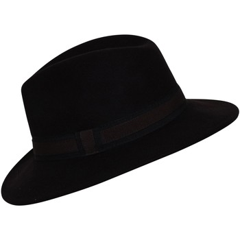 Accessoires textile Chapeaux Chapeau-Tendance Chapeau fédora 100% laine IDRO T56 Marron