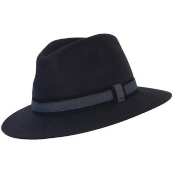 Accessoires textile Chapeaux Chapeau-Tendance Chapeau fédora 100% laine IDRO T59 Gris
