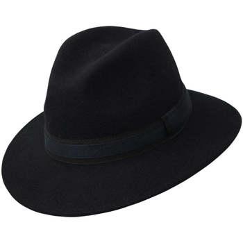 Accessoires textile Chapeaux Chapeau-Tendance Chapeau fédora 100% laine IDRO T55 Bleu marine