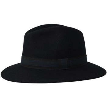 Accessoires textile Chapeaux Chapeau-Tendance Chapeau fédora 100% laine IDRO T59 Bleu marine