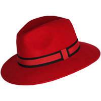 Accessoires textile Chapeaux Chapeau-Tendance Chapeau fédora 100% laine MAJEUR T55 Rouge