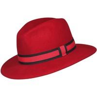 Accessoires textile Chapeaux Chapeau-Tendance Chapeau fédora 100% laine MAJEUR T57 Rouge