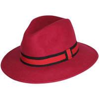 Accessoires textile Chapeaux Chapeau-Tendance Chapeau fédora 100% laine MAJEUR T55 Rose fushia