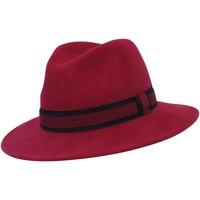 Accessoires textile Chapeaux Chapeau-Tendance Chapeau fédora 100% laine MAJEUR T58 Rose fushia