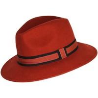 Accessoires textile Chapeaux Chapeau-Tendance Chapeau fédora 100% laine MAJEUR T55 Rouge rouille