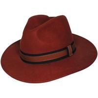 Accessoires textile Chapeaux Chapeau-Tendance Chapeau fédora 100% laine MAJEUR T59 Rouge rouille