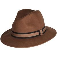 Accessoires textile Chapeaux Chapeau-Tendance Chapeau fédora 100% laine MAJEUR T57 Marron clair