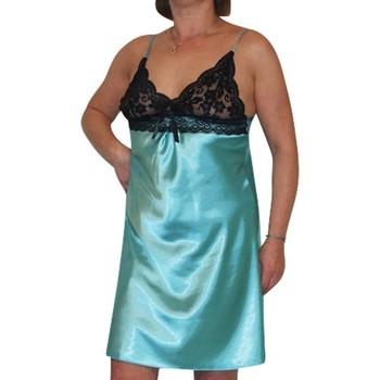 Vêtements Femme Pyjamas / Chemises de nuit Chapeau-Tendance Nuisette avec dentelle Bleu turquoise
