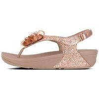 Chaussures Femme Tongs FitFlop BOOGALOO TM BACK STRAP SANDAL - ROSE GOLD es ROSE GOLD es