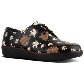 Chaussures Femme Derbies FitFlop DERBY DARK FLORAL - BLACK BLACK