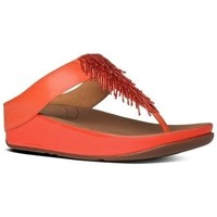 Chaussures Femme Tongs FitFlop Cha Cha TM - Flame Leather - ESAURIMENTO Flame Leather - ESAURIMENTO