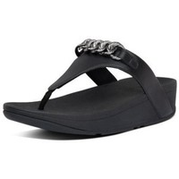 Chaussures Femme Tongs FitFlop LOTTIE CHAIN TOE THONGS - ALL BLACK ALL BLACK