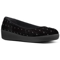 Chaussures Femme Ballerines / babies FitFlop QUILTED STARS - BLACK BLACK
