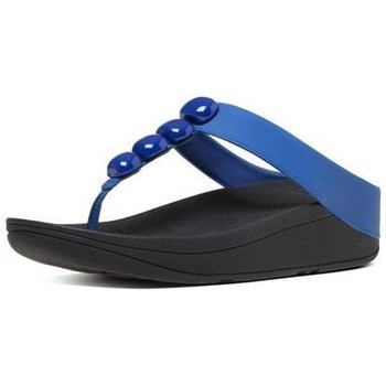 Chaussures Femme Tongs FitFlop ROLA TM - ROYAL BLUE LEATHER ROYAL BLUE LEATHER
