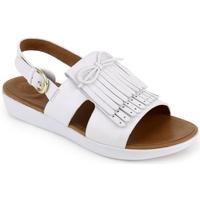 Chaussures Femme Sandales et Nu-pieds FitFlop H-BAR TM BACK-STRAP FRINGE SANDALS -URBAN WHITE BLACK