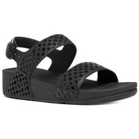 Chaussures Femme Conditions des offres en cours FitFlop SAFI TM STRAP SANDAL - ALL BLACK LEATHER ALL BLACK LEATHER