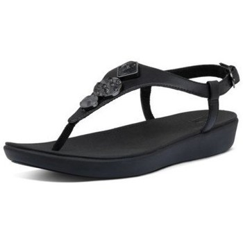 Chaussures Femme Tongs FitFlop LAINEY CIRCLE TOE THONGS - BLACK BLACK