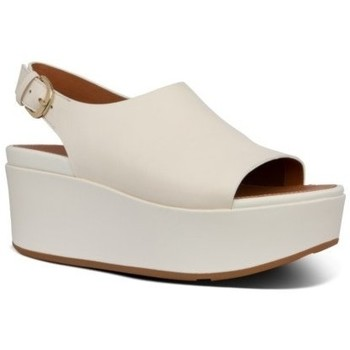 Chaussures Femme Sandales et Nu-pieds FitFlop ELOISE BACK STRAP LEATHER WEDGES - STONE STONE