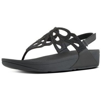 Chaussures Femme Tongs FitFlop BUMBLE CRYSTAL TM SANDAL - BLACK BLACK
