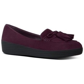 Chaussures Femme Mocassins FitFlop TASSEL BOW TM SNEAKERLOAFER - DEEP PLUM DEEP PLUM