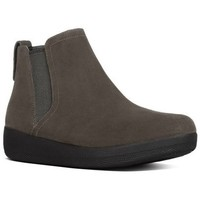 Chaussures Femme Bottines FitFlop SUPERCHELSEA TM BOOT- Bungee Cord Suede BLACK