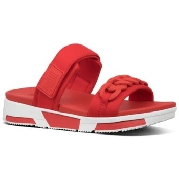 Chaussures Femme Mules FitFlop HEDA CHAIN SLIDES - RED RED