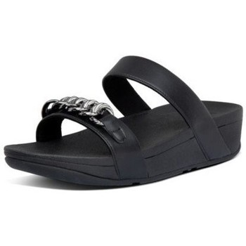 Chaussures Femme Mules FitFlop LOTTIE CHAIN SLIDES - ALL BLACK ALL BLACK