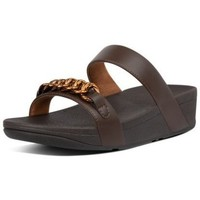 Chaussures Femme Mules FitFlop LOTTIE CHAIN SLIDES - CHOCOLATE BROWN CHOCOLATE BROWN