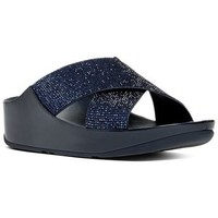 Chaussures Femme Mules FitFlop CRYSTALL TM SLIDE - SUPERNAVY CRYSTAL SUPERNAVY CRYSTAL