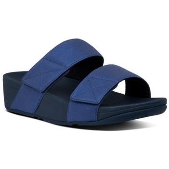 Chaussures Femme Mules FitFlop MINA SHIMMER SLIDES - MIDNIGHT NAVY MIDNIGHT NAVY