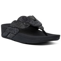 Chaussures Femme Tongs FitFlop PAISLEY ROPE TOE THONGS - ALL BLACK ALL BLACK