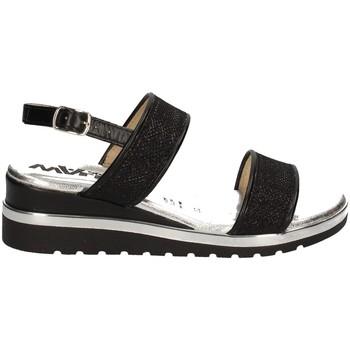 Chaussures Femme Sandales et Nu-pieds Melluso HO37073 Pays-Bas Femme NOIR NOIR