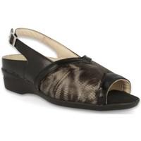 Chaussures Femme Sandales et Nu-pieds Dtorres LUGANO SANDALES  À LARGE PIEDS BLACK_01