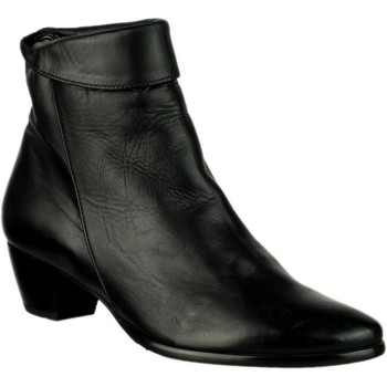 Chaussures Femme Bottines Riva Di Mare Armadillo Leather Boots Noir
