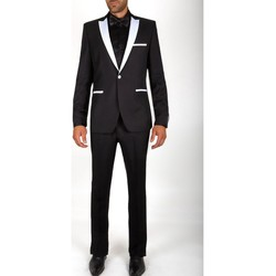 Vêtements Homme Costumes  Kebello Smoking à revers en satin Taille : H Noir 46V-38P Noir
