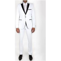 Vêtements Homme Costumes  Kebello Smoking à revers en satin Taille : H Blanc 46V-38P Blanc