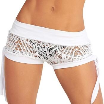 Vêtements Femme Shorts / Bermudas Mapalé Short de plage Laury blanc Blanc