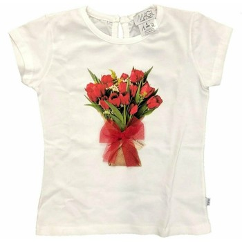Vêtements Fille T-shirts manches courtes Magil Made In Italy UM26114 BLANC