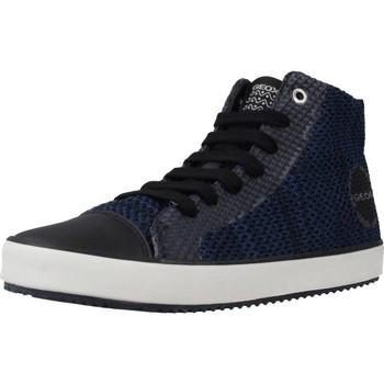 Chaussures Garçon Baskets montantes Geox J ALONISSO B. F Noir