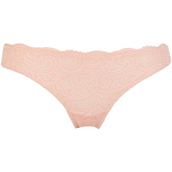 Sous-vêtements Femme Strings Lormar Tanga en dentelle Leavers Brasiliana Frizzante Beige